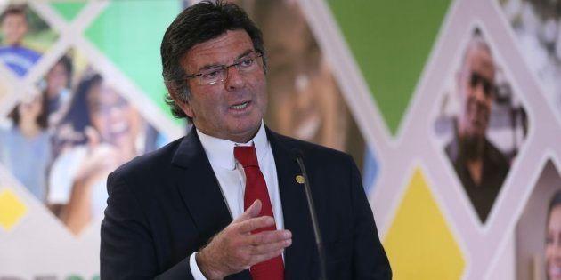 O ministro Luiz Fux, presidente do TSE, durante apresentação do perfil do eleitorado