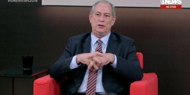 Ciro Gomes, candidato do PDT à Presidência, em entrevista à
