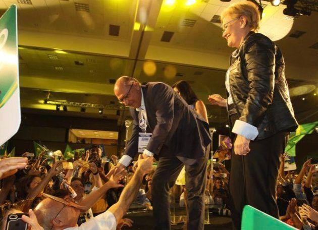 A chapa do PSDB na disputa pela Presidência da República é formada pelo ex-governador Geraldo Alckmin...