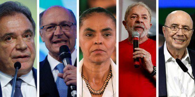 Alvaro Dias, Geraldo Alckmin, Marina Silva, Lula e Henrique