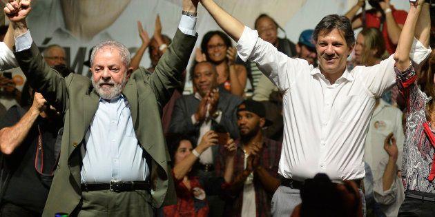Lula e Haddad, em evento em