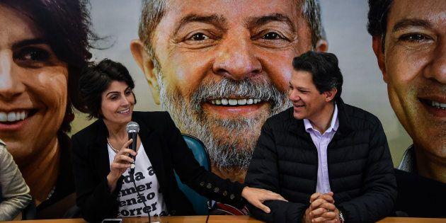 Manuela D'Ávila (PcdoB) e Fernando Haddad (PT) contam como funcionará a chapa com