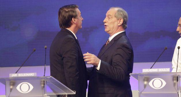Nas falas durante o debate, Bolsonaro e Ciro Gomes adotaram um tom mais brando que o