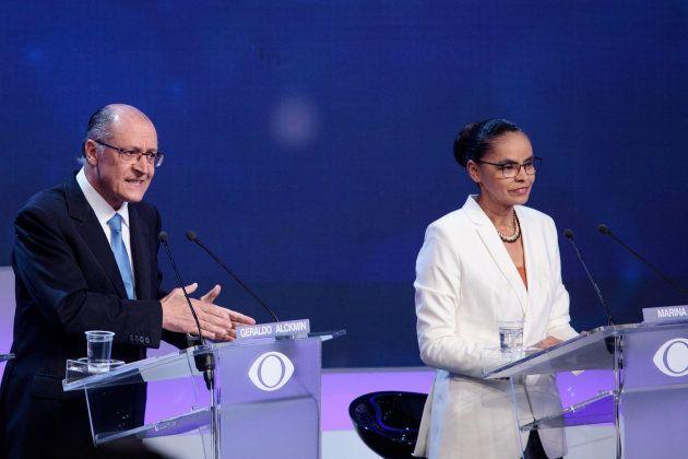 Alckmin e Marina: algumas alfinetadas, mas em tom