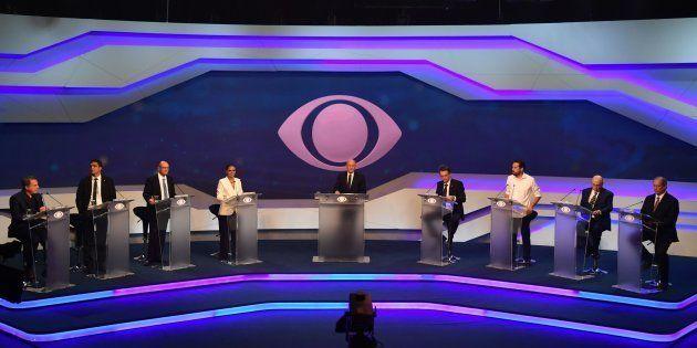O debate da Band foi o primeiro confronto entre os candidatos à Presidência nas eleições