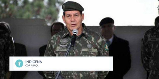 'Eu sou indígena, meu pai era amazonense', disse o general Mourão, vice na chapa de