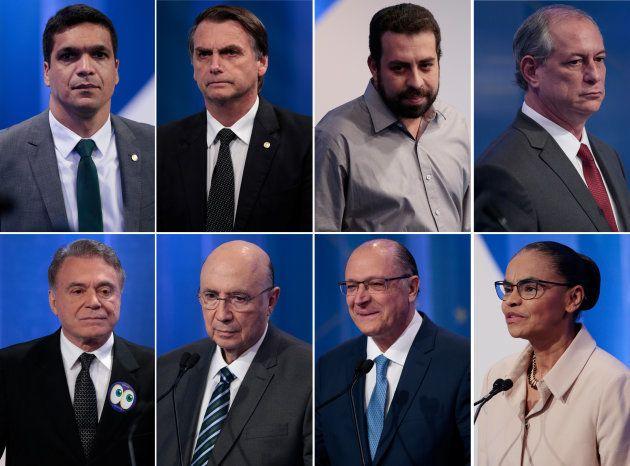 Cabo Daciolo, Jair Bolsonaro, Guilherme Boulos, Ciro Gomes, Alvaro Dias, Henrique Meirelles, Geraldo...