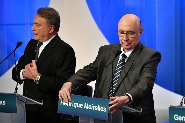 Alvaro Dias e Henrique Meirelles não se enfrentaram no debate da