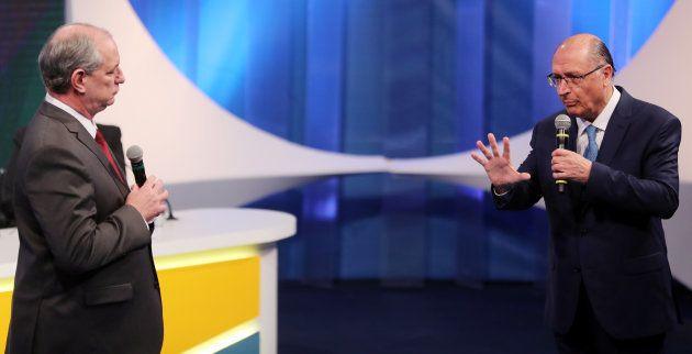Ciro e Alckmin divergem sobre teto de gastos e questões