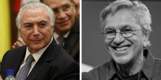 Temer envia carta a Caetano para rebater críticas e chama Ciro Gomes de 'pigmeu
