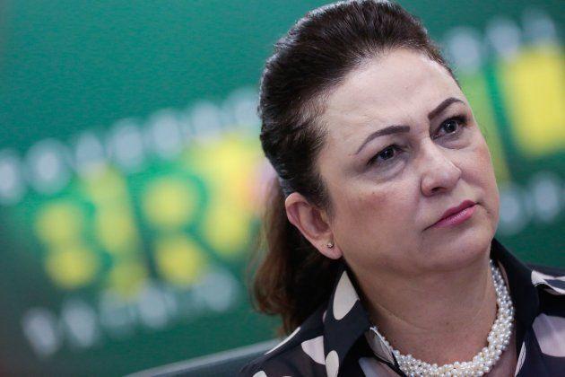 Kátia Abreu em foto de 2015, quando era ministra da Agricultura do governo Dilma