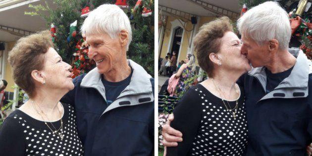 Edna e Moacir de Carvalho estão juntos há 60 anos.