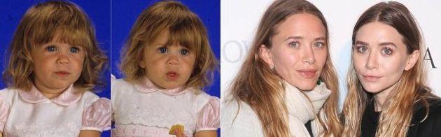 A pequena Michelle era interpretada pelas irmãs Olsen - Ashley e Mary