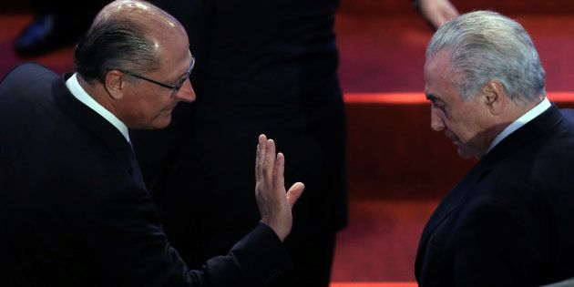 Alckmin rebate Temer: 'O problema não são os ministros é o