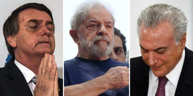 Bolsonaro ferido, Lula preso, Temer combalido: este é o Brasil a um mês da