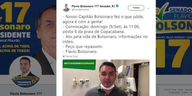 Filho de Jair Bolsonaro convocou população do Rio para um ato pela