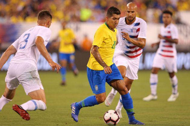 Roberto Firmino marcou o 1º gol da nova fase da Seleção com