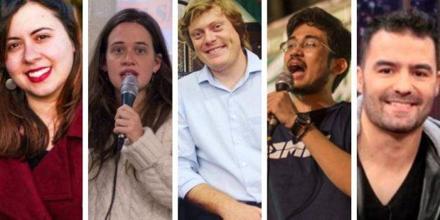 Sâmia Bomfim e Isa Penna, do PSOL; Zé Gustavo, da Rede; Kim Kataguiri e Arthur do Val, do
