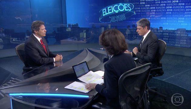 Haddad, no Jornal Nacional, diz que eleitor foi induzido ao erro em
