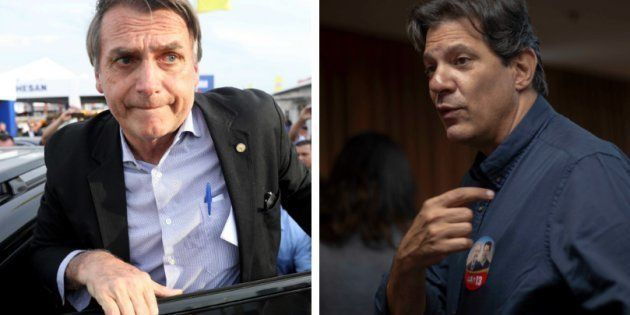 Bolsonaro segue líder nas pesquisas de intenção de voto, e Fernando Haddad é o que apresenta tendência...
