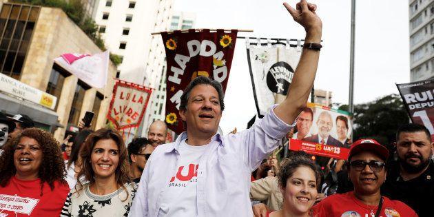 Fernando Haddad (PT) empata numericamente com Jair Bolsonaro (PSL) em simulação de 2º