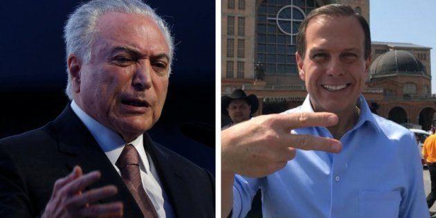 Em novo vídeo, Temer mira em João Doria: