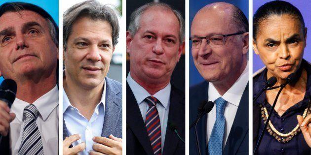 Bolsonaro, Haddad, Ciro, Alckmin e