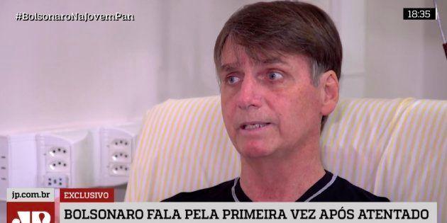 Em sua primeira entrevista em vídeo, Bolsonaro diz ter sido vítima de atentado