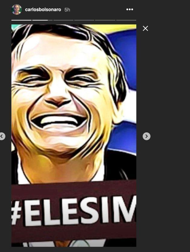 Filho de Bolsonaro usa imagem de tortura para ironizar campanha