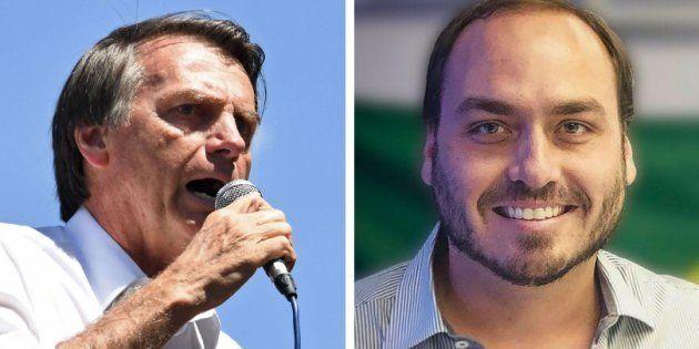 Carlos Bolsonaro criticou a campanha #EleNão em seu