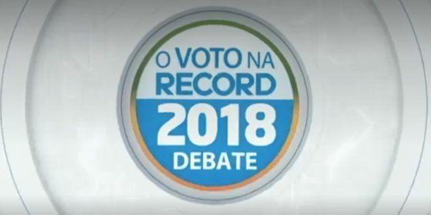 TV Record promove debate entre candidatos à Presidência neste domingo, às