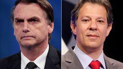 Bolsonaro e Haddad, os campeões de rejeição segundo o