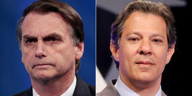 Jair Bolsonaro e Fernando Haddad são os mais rejeitados com 46% e 32%, diz
