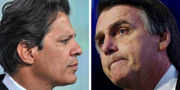 Fernando Haddad e Jair Bolsonaro foram considerados radicais pelos