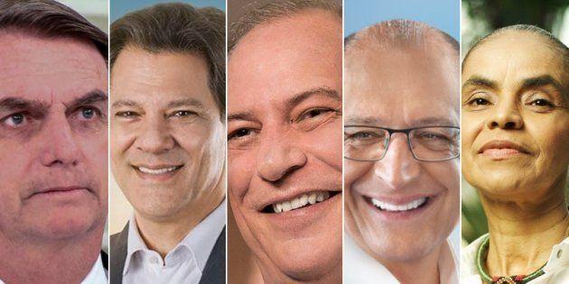 Bolsonaro e Haddad estão muito à frente de Ciro, Alckmin e