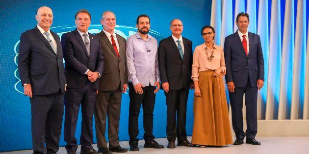 Debate da Globo reúne Henrique Meirelles, Alvaro Dias, Ciro Gomes, Guilherme Boulos, Geraldo Alckmin,...