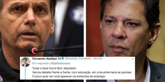 Haddad confronta Bolsonaro no