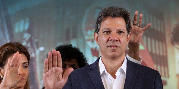 Fernando Haddad (PT) em evento com pastores