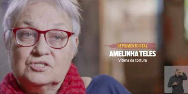 Torturada durante a ditadura no Brasil, Amelinha Teles dá depoimento para o programa eleitoral do