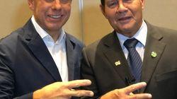 Após 'bolo' de Bolsonaro, Doria recebe apoio do general