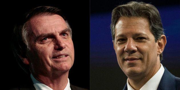 Jair Bolsonaro está 18 pontos à frente de Fernando