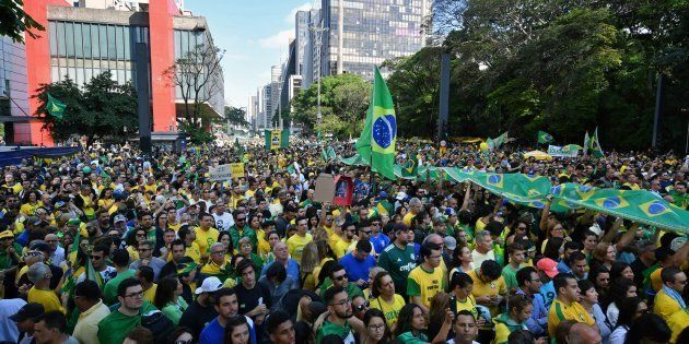 Movimentação contra retorno do PT ao poder e a favor de Jair Bolsonaro mobilizou a Avenida Paulista,...