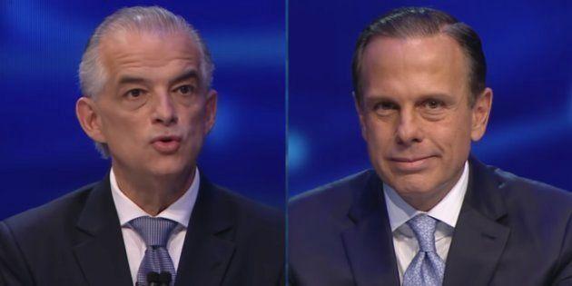 Márcio França e João Doria se enfrentam em novo debate nesta terça-feira
