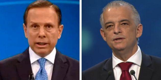 João Doria (PSDB) e Márcio França (PSB) farão último debate nesta