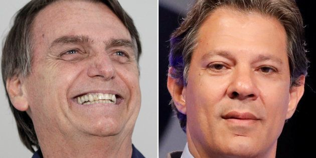 Jair Bolsonaro está 10 pontos à frente de Fernando Haddad no último Datafolha antes do 2º