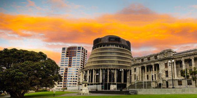 A sede do Parlamento neozelandês, em