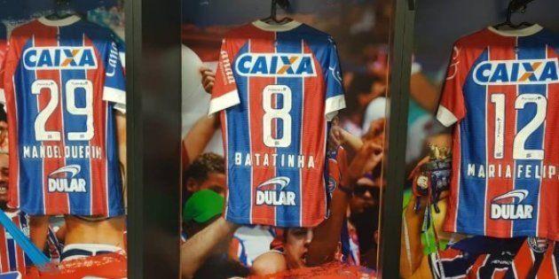 Jogadores do Bahia fizeram homenagem ao mês da Consciência