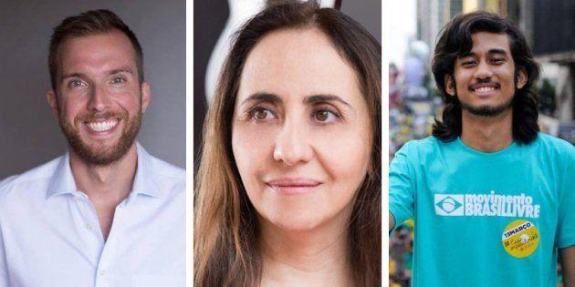 Deputados eleitos Vinicius Poit e Adriana Ventura (Novo) e Kim Kataguiri (DEM) articulam bancada liberal...