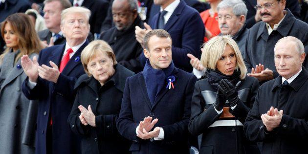 Trump, Merkel, Macron e Putin prestam homenagem, em Paris, aos mortos na 1ª Guerra