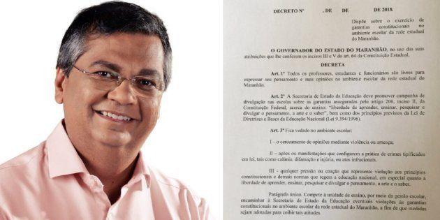 Flávio Dino emite decreto em oposição ao Escola Sem